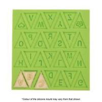 alphabet bunting silicone mould