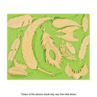 Assorted Feathers & Wings Silicone Mould No. 2