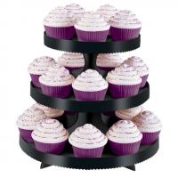 3 Tier Cupcake Treat Stand- Black
