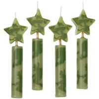 Chunky Camouflage Candles 4pk
