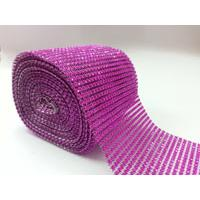 Diamante Cake Wrap 1m - Cerise