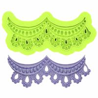 Drapped Lace Border Silicone Mould