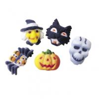 Halloween Deluxe Assorted Edible Icing Toppers - 6pack