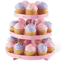 3 Tier Cupcake Treat Stand- Pink