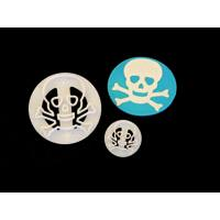 FMM Skull & Crossbones Cutter Set of 2
