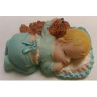 Sleeping Baby Boy Cake Topper