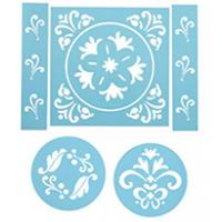 traditional stencil set of 6