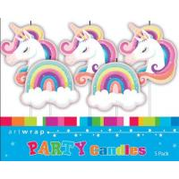 unicorn candles pack 5