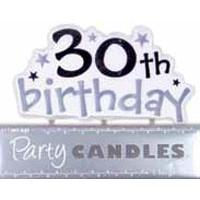30th Birthday Stars Candle