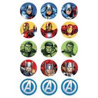 Edible Image- Avengers Cupcake Icing image