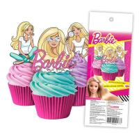 barbie edible wafer cupcake toppers 16pk