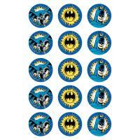 batman cupcake icing image