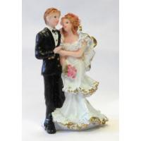 bride and groom on left topper