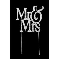 MR & MRS Cake Topper Diamante - Large