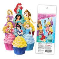 Disney Princess - Edible Wafer Cupcake Toppers