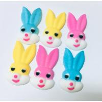 Easter Bunny Heads Edible Icing Toppers Pack of 6