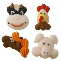 Farm Animals Edible Icing Toppers 10pk