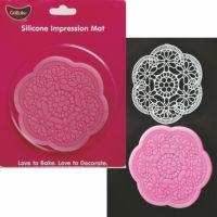 GoBake Floral Round Lace Mat