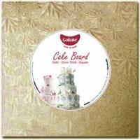 9 inch Square Cake Board - Gold