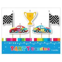 grand pix racing car candles 5pk