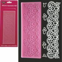 heart lace mat