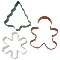 Holiday Candy 3pc Cookie Cutter Set