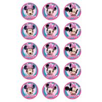 Edible Image-Minnie Mouse Cupcake Icing Image