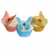 mixed colours wafer butterflies