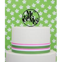 mr mrs black acrylic cake topper