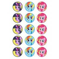 My Little Pony Cupcake Icing Image