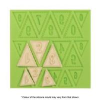 number bunting silicone mould