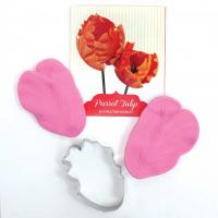 parrot tulip cutter and silicone veiner set