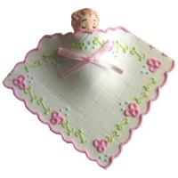 Pink Sleeping Baby with Blanket Edible Icing Cake Topper