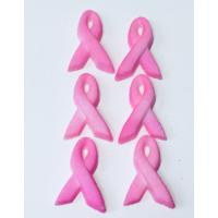 Pink Ribbon Edible Icing Toppers 12pk