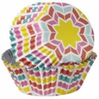 Rainbow Herringbone Foil Cupcake Cases