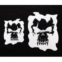 Single Skull Stencil Set of 2