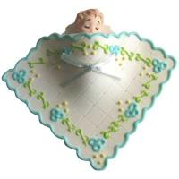 Blue Sleeping Baby with Blanket Edible Icing Cake Topper