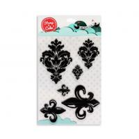 Stamp a Cake DAMASK and FLEUR Stamp