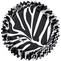 zebra cupcake cases